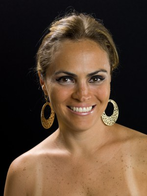 Pretty Mexican lady smiling