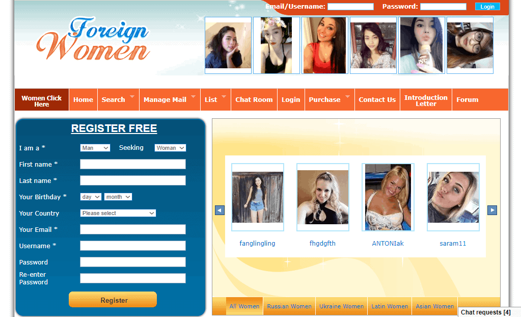 Foreign women dating service Email Russian Asia